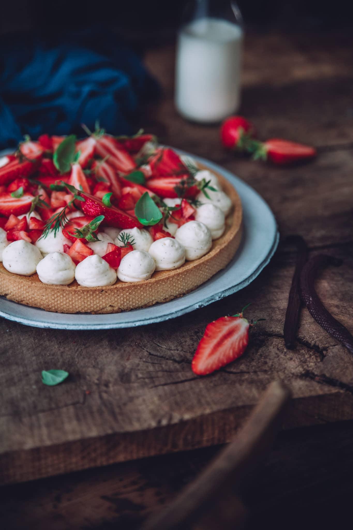 Tarte aux fraises printemps recette