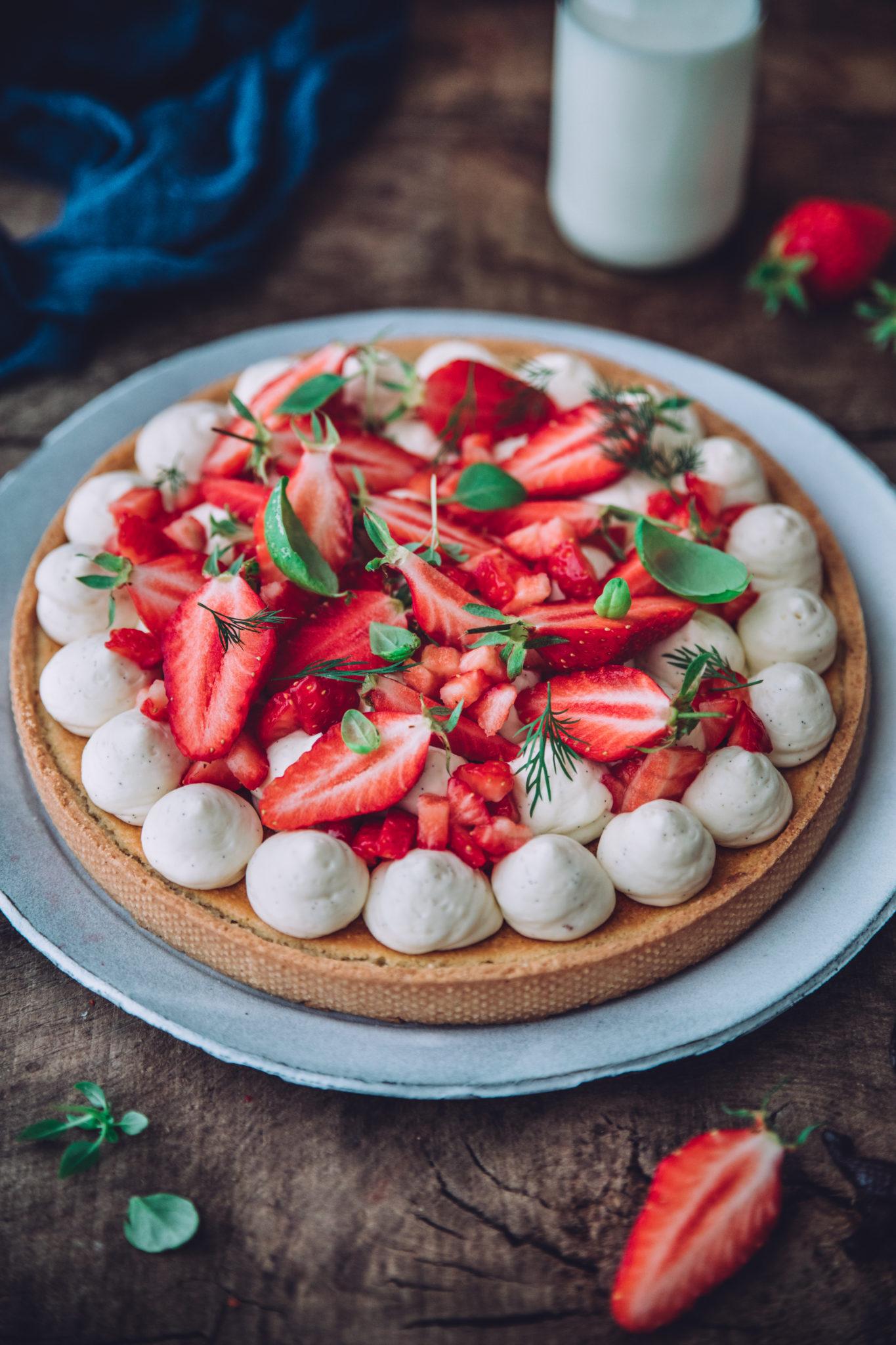 recette tarte aux fraises styliste culinaire