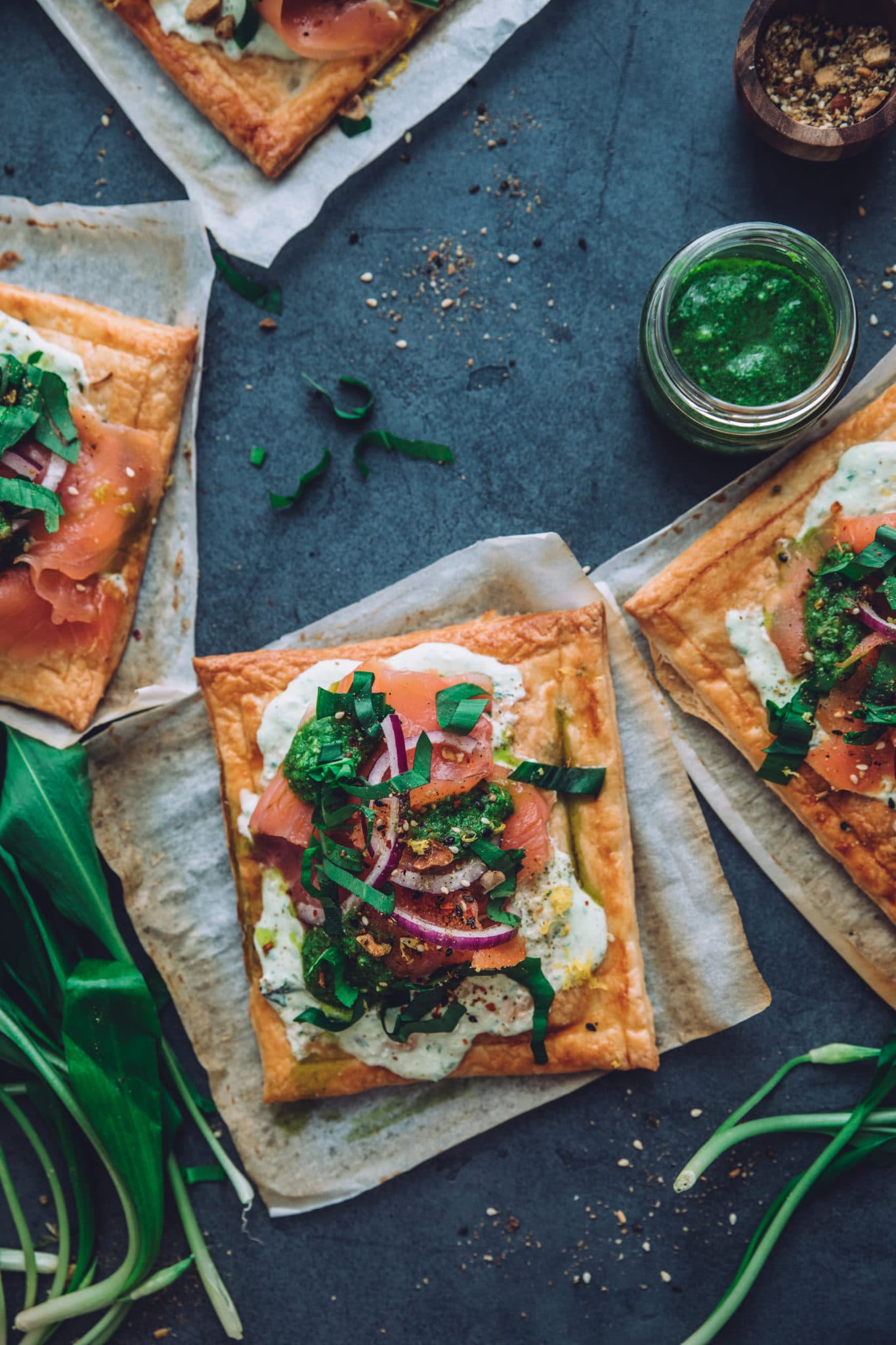 Tarte saumon fine