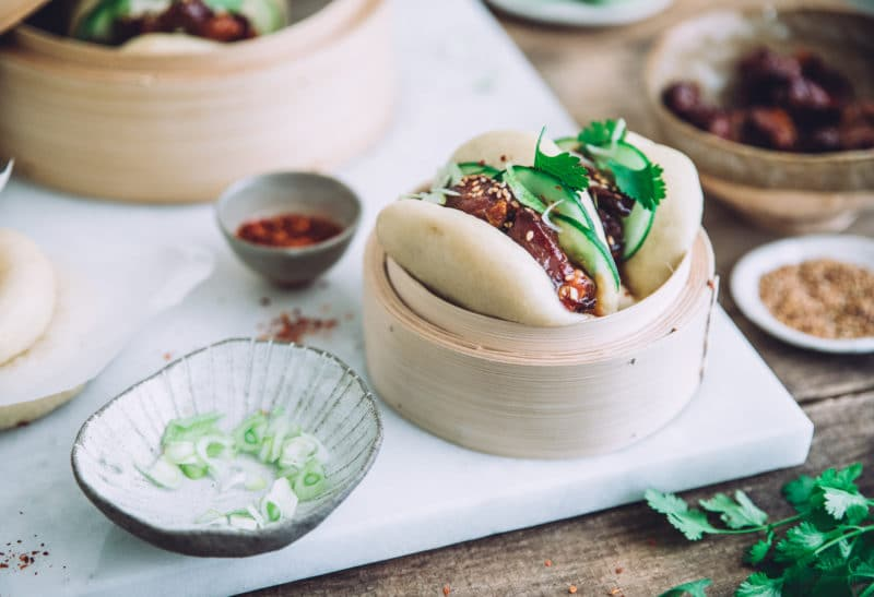 Gua bao au porc caramélisé façon Hong Kong